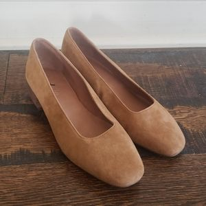 Madewell Sofie Pump in Suede AA170